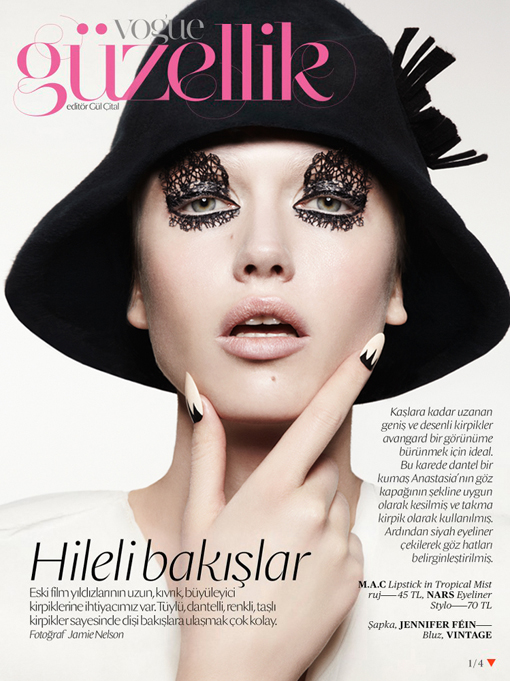 2 - Olhos rendados na Vogue. Surrealismo chique e sofisticado