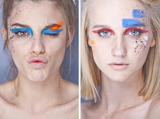 4- Traços desconexos na maquiagem da marca carioca  Auslander. Uma boa pedida para o carnaval!