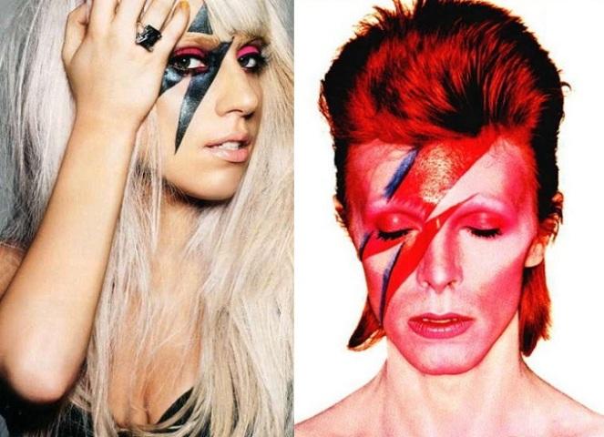 6- Lady Gaga e David Bowie - o famoso meio raio é famoso no mundo todo